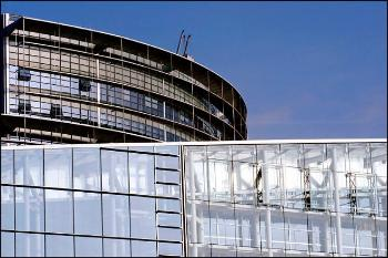 Architecture, Building, Facade, Commercial building, Glass. Sky.