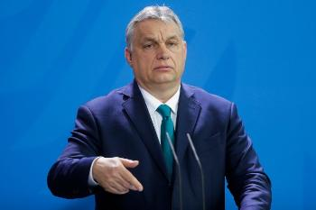 Prime Minister Victor Orban, Hungary, holds a speech.