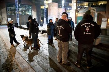 soldiers of Odin in the streets