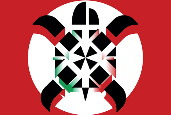 Image may contain: Emblem, Symbol.