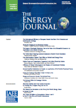 Front page of the issue of The Energy Journal