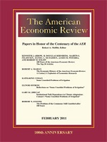 Front page of journal American Economic Review
