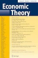 Front page of journal Economic Theory