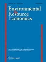 Front page of journal Environmental and Resource Economics