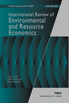 Photo: International Review of Environmental and Resource Economics