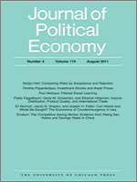 Photo: Journal of Political Economy