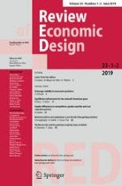 Front page of journal Review of Economic Design