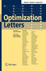 Bilde av Optimization Letters