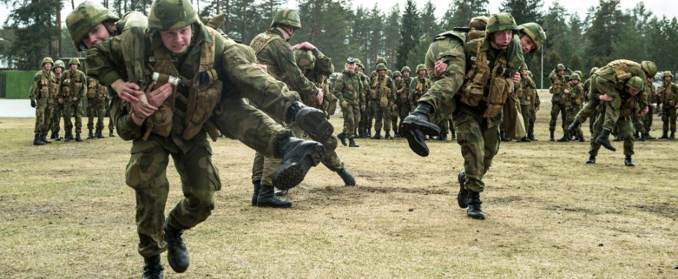 Norwegian soldiers in boot camp
