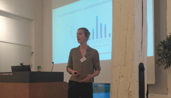Ragnhild Camilla Schreiner presenterer rapport