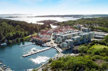 Aerial view of the hotel, Hvaler in the background