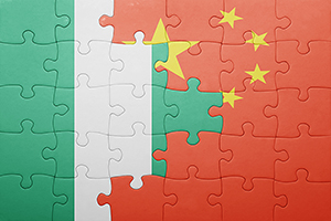Nigerian and Chinese flags