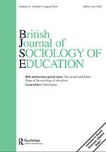 Cover of British Journal of Sociology of Education