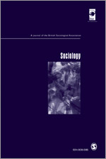 Cover of the journal Sociology