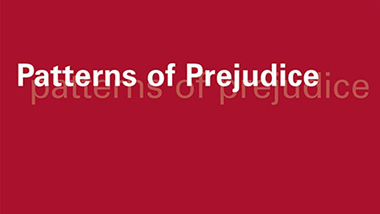 Cover of the journal Patterns of Prejudice