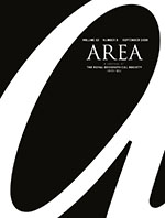 cover of the journal Area