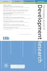 Cover of The European Journal of Development Research