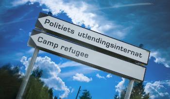 skilt asylsenter