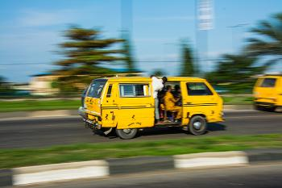 Minubuss, kalt Danfo, i Lagos, Nigeria