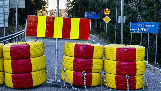 Veisperring på grensen til Sverige