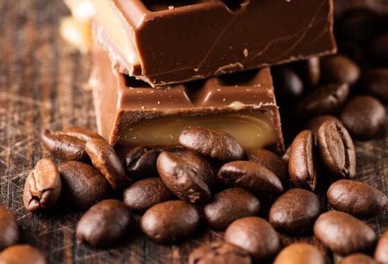kaffebønner og sjokolade