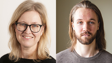 Portrettbilder av Trude Lappegård og AxelPeter Kristensen