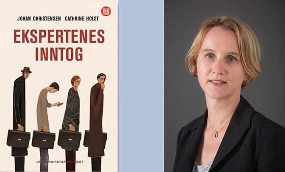 Bokforside og portrettbilde av Cathrine Holst