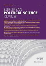 Cover page of European Political Science Review