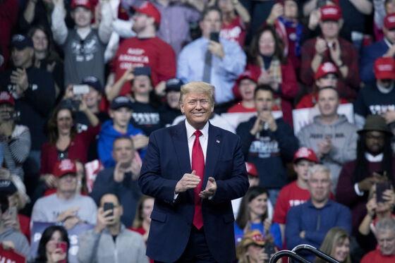 Trump på scenen i Valgkamp