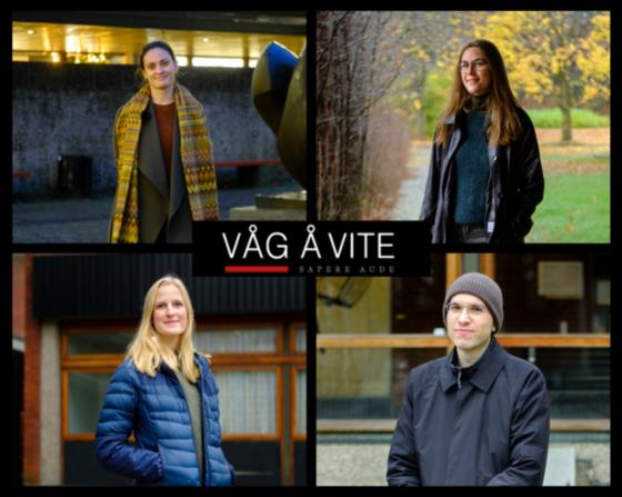 portretter av de fire vinnerne  av Våg å vite prisen