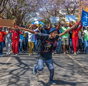 Student protest in South Africa