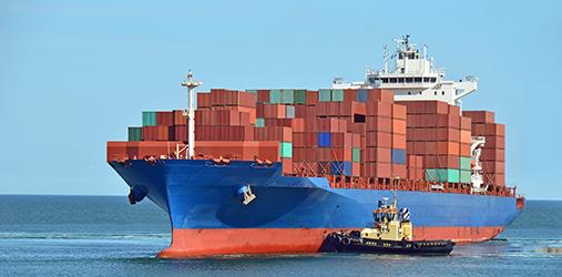 Containership at sea. Photo: Colourbox