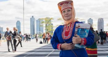 Sami representative at the UN World Conference on Indigenous Peoples in New York