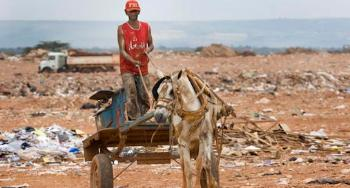 Garbage collector at the dump outside of Brasilia. Photo: Steve Evans, flickr