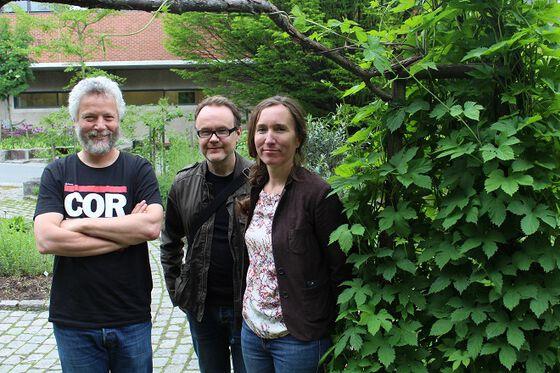 Paul Wenzel Geissler (t.v.), Knut Breivik og Katrine Borgå