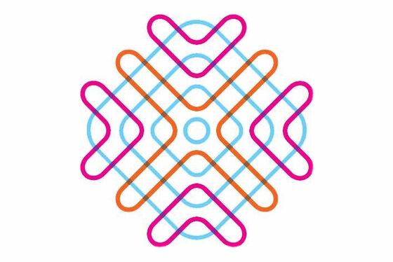 Bildet kan inneholde: rosa, linje, design.