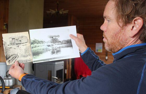 Haakon Harris er fotograf ved Norsk Folkemuseum som samarbeider med SAI i hytteprosjektet.