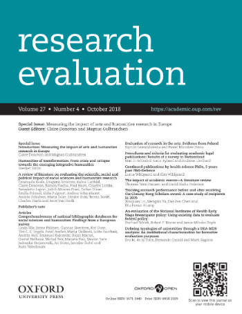 research-evaluation-cover-special-issue